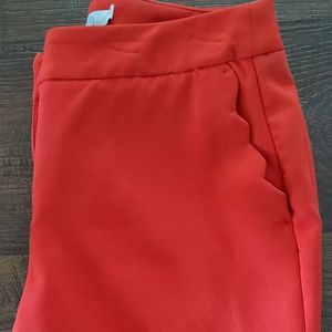 Red dress pants size 4